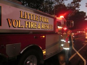 Rixeyville Road Structure Fire, Little Fork assisting
