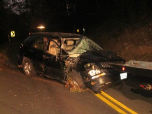 Auto Collision with Tree - October 27, 2013